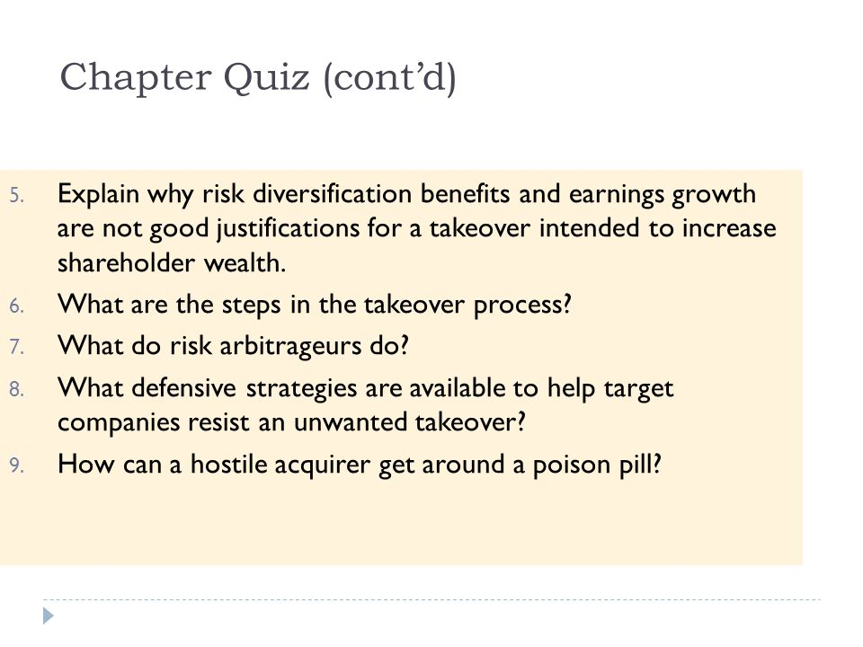 Chapter Quiz (cont'd)