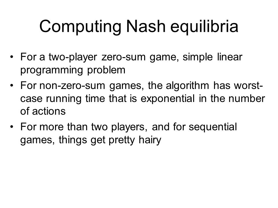 Computing Nash equilibria