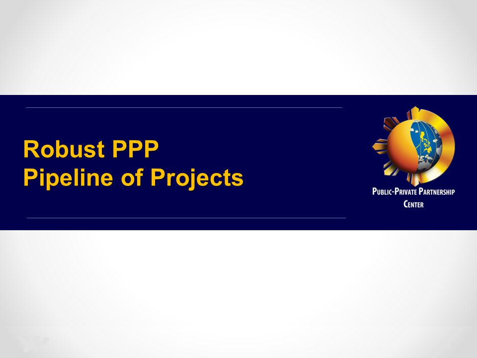 Robust PPP Pipeline of Projects