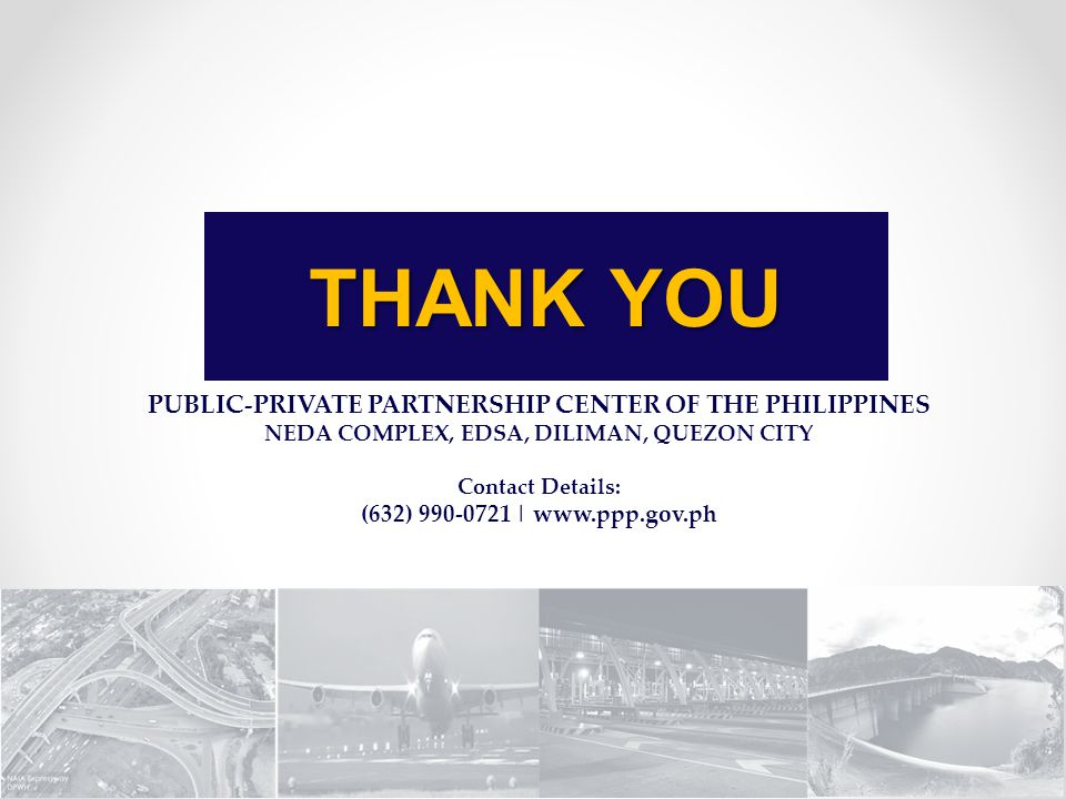 THANK YOU PUBLIC-PRIVATE PARTNERSHIP CENTER OF THE PHILIPPINES