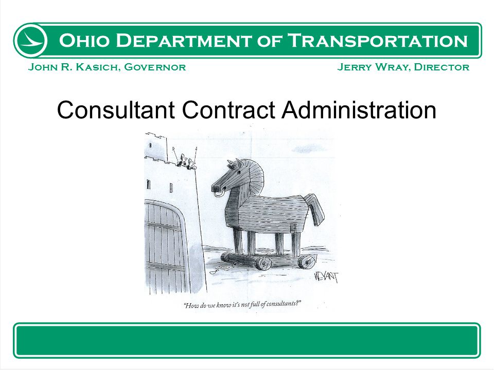 Consultant Contract Administration