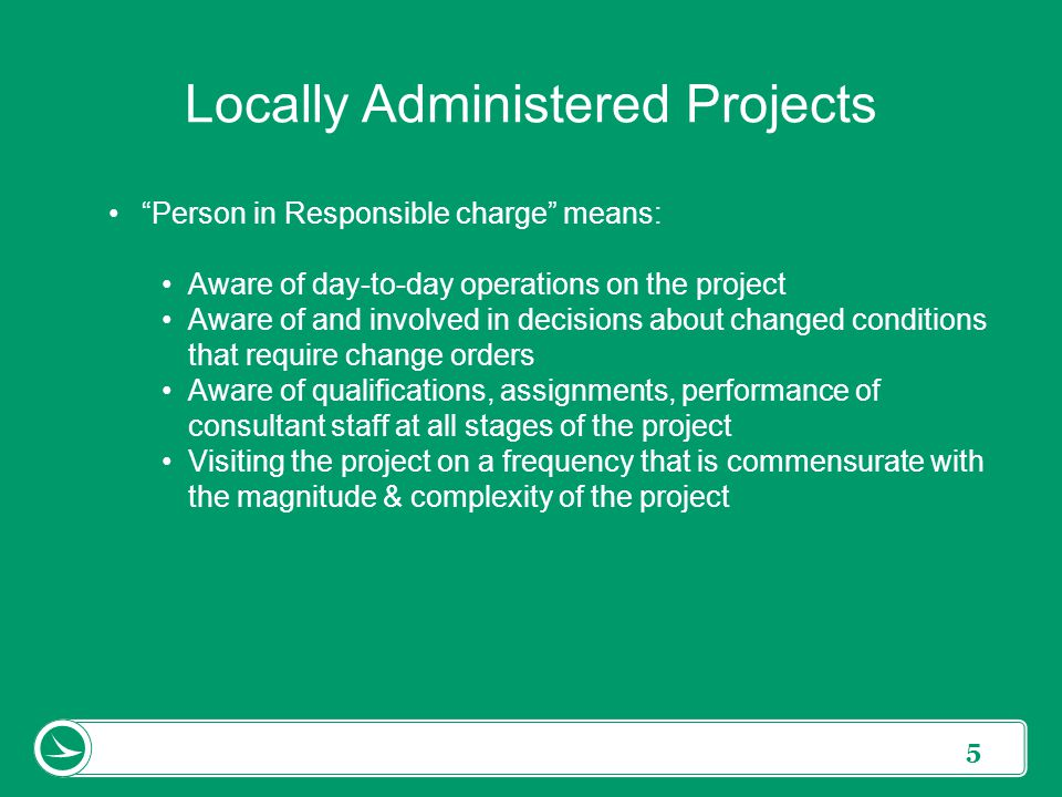 Locally Administered Projects