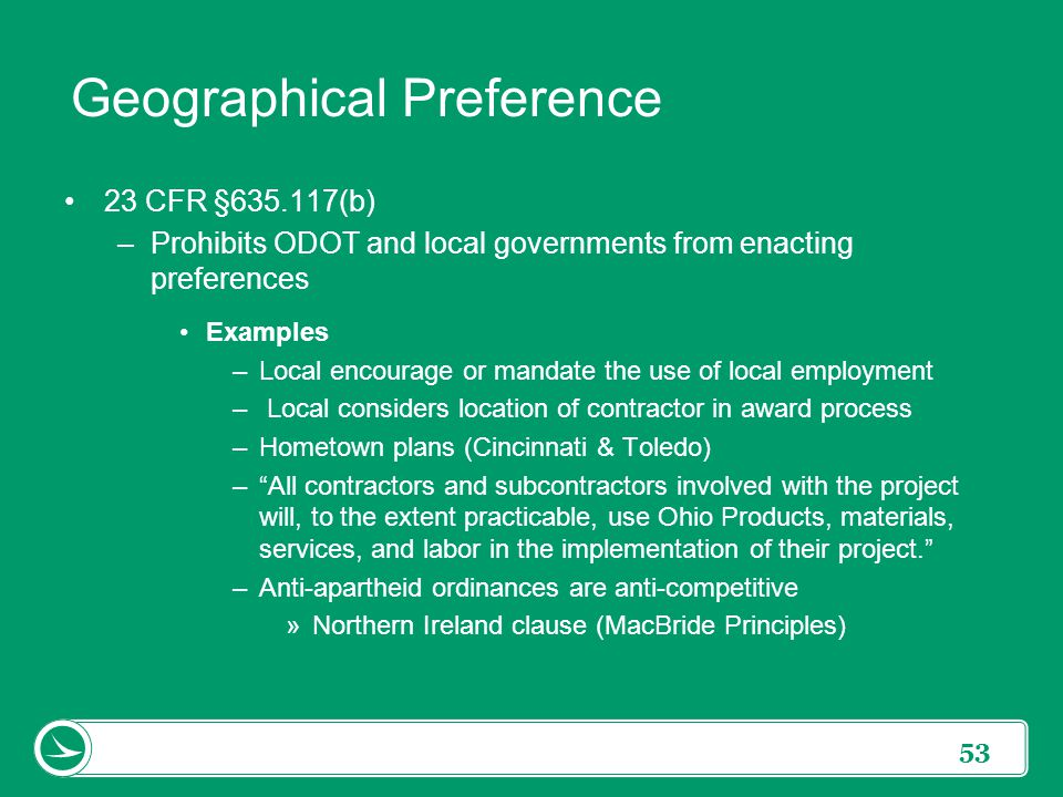 What Is Geographic Preference  Geographic Preference