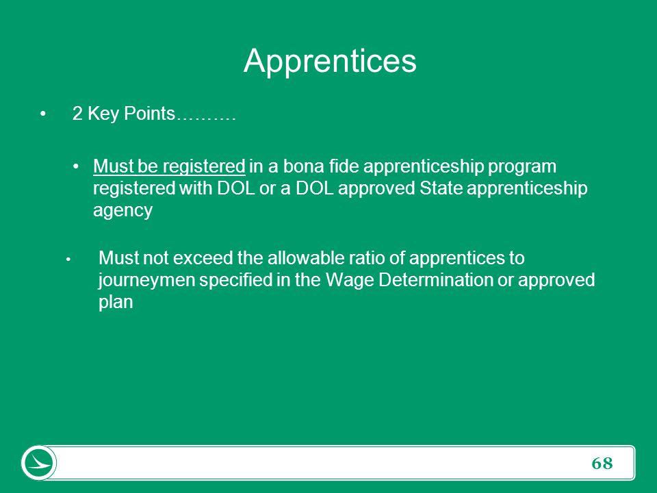 Apprentices 2 Key Points……….