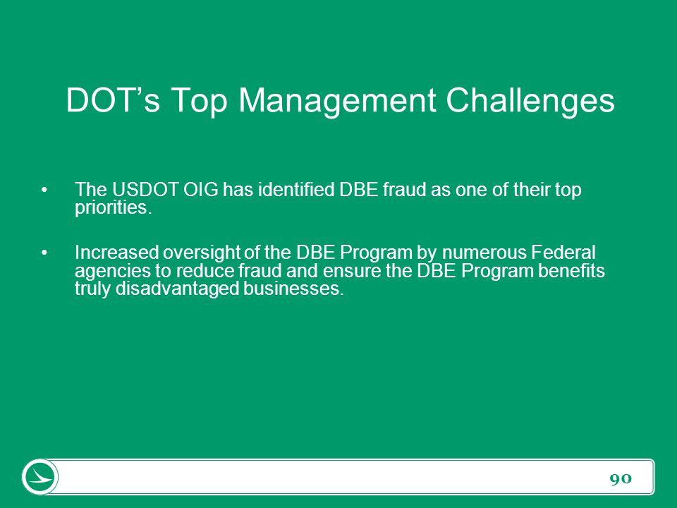 DOT's Top Management Challenges