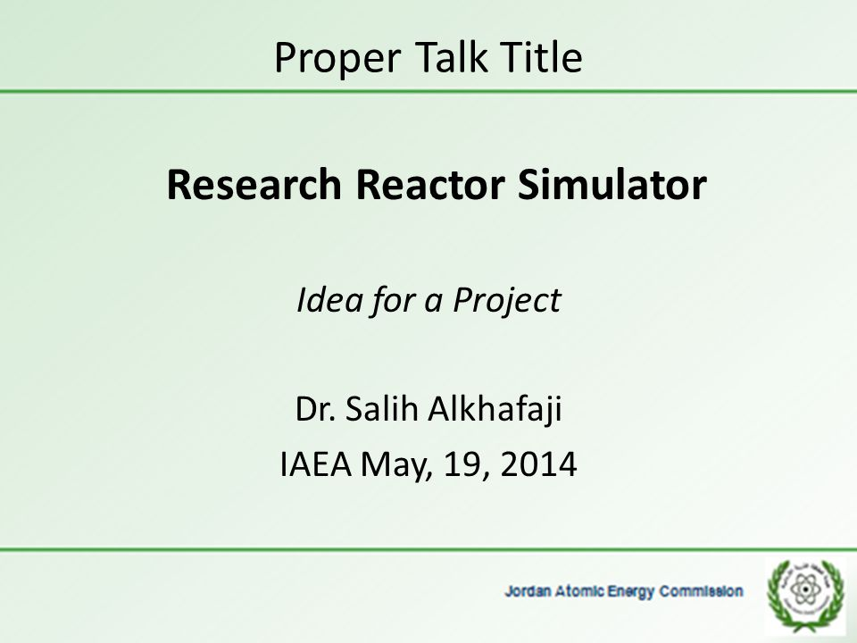 Research Reactor Simulator