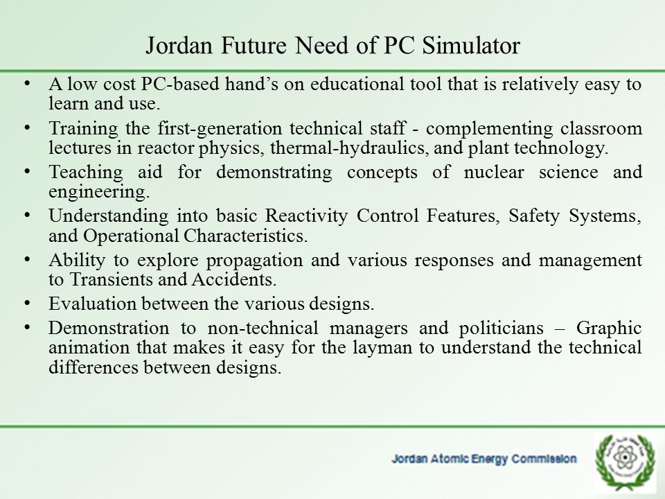 Jordan Future Need of PC Simulator