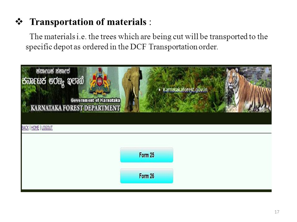 Transportation of materials :