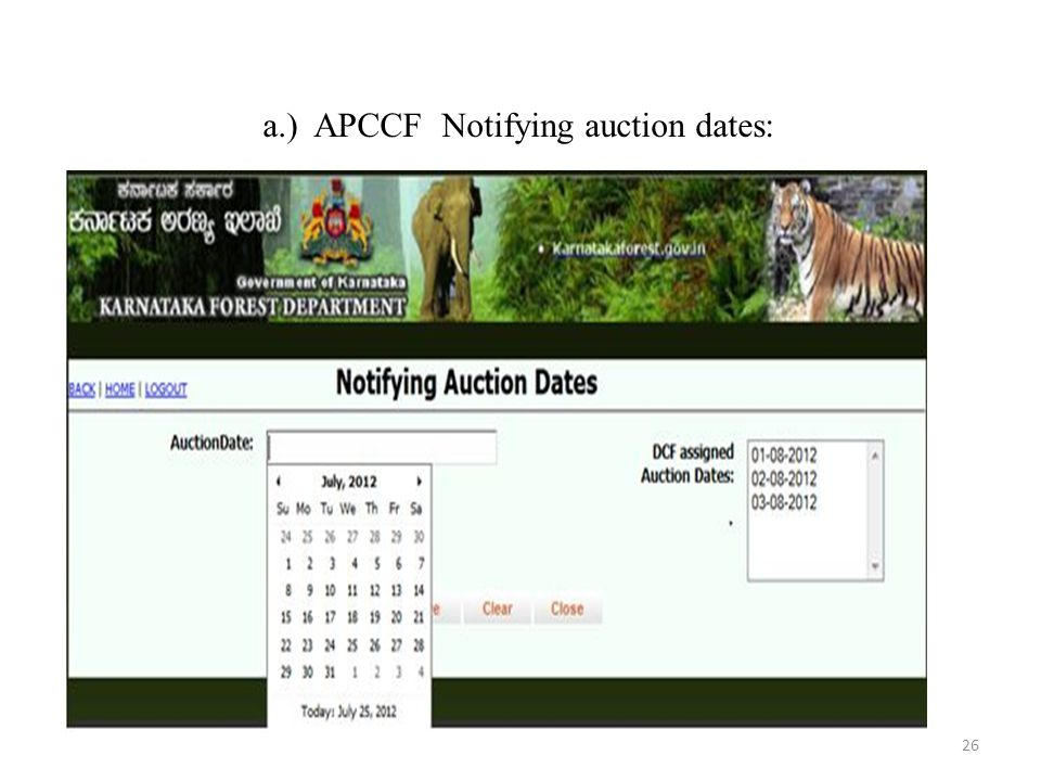 a.) APCCF Notifying auction dates: