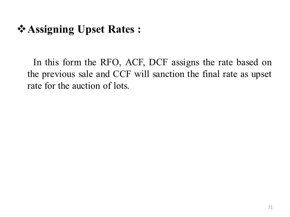 Assigning Upset Rates :