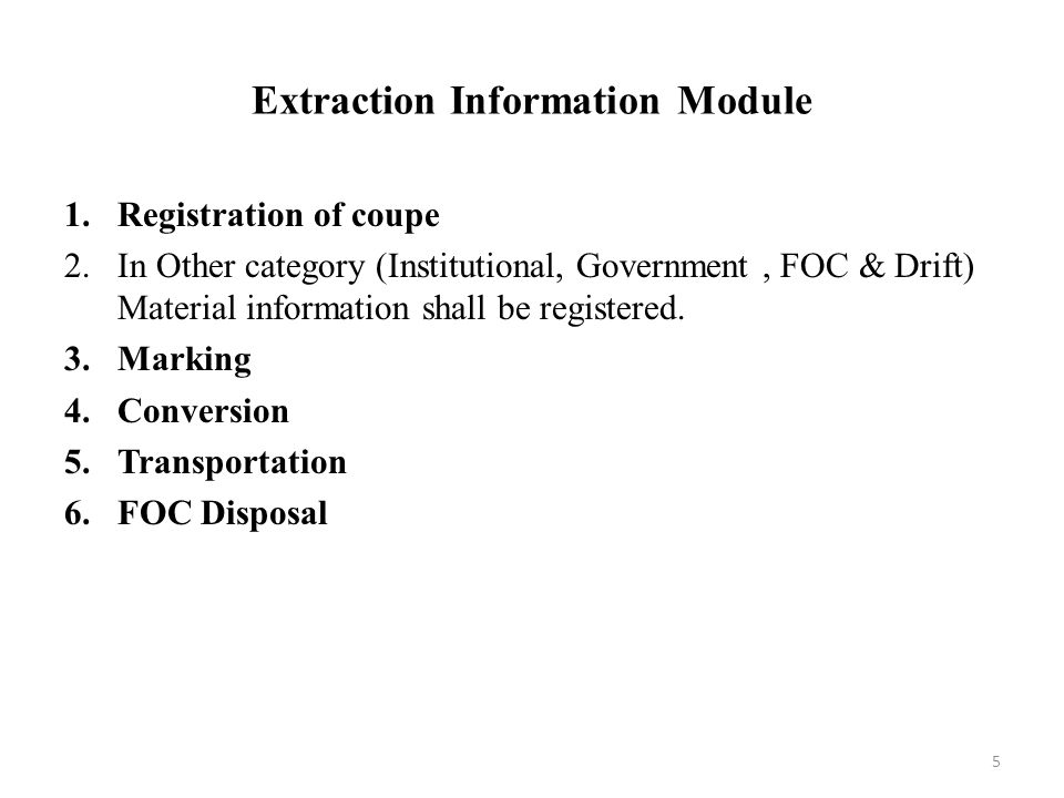 Extraction Information Module
