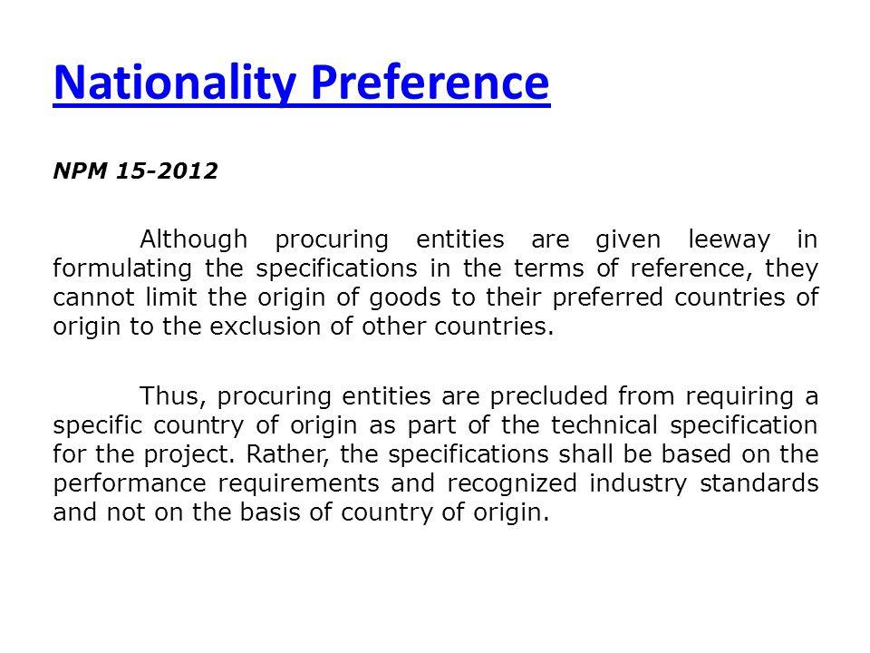 Nationality Preference