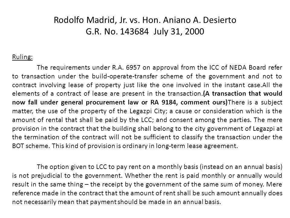 Rodolfo Madrid, Jr. vs. Hon. Aniano A. Desierto G. R. No
