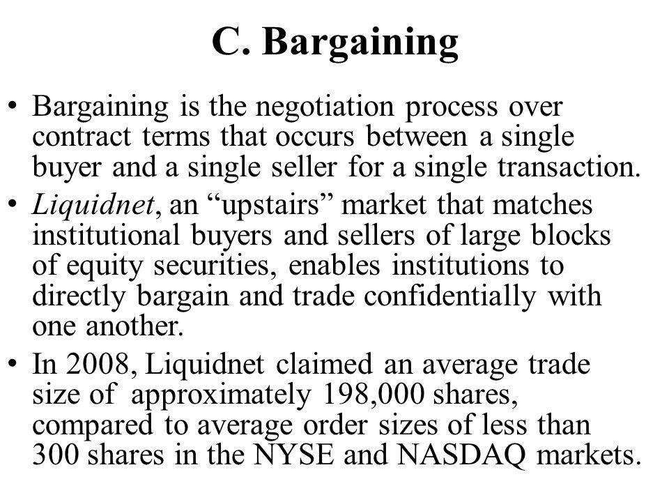 C. Bargaining