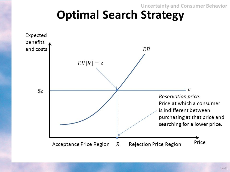 Optimal Search Strategy