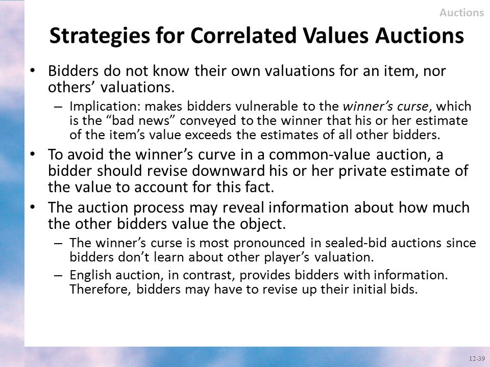 Strategies for Correlated Values Auctions
