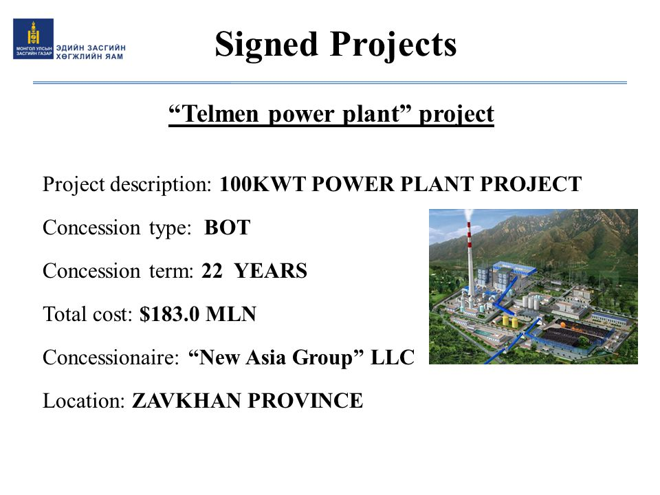 Telmen power plant project