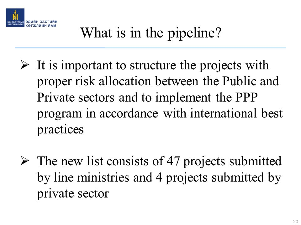 What is in the pipeline