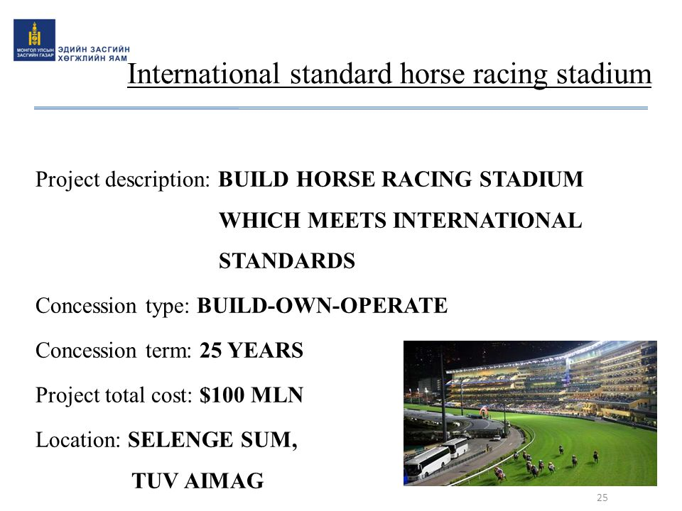 International standard horse racing stadium