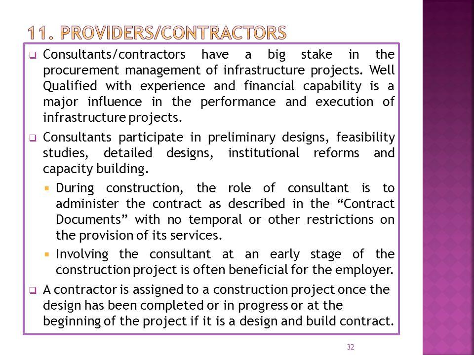 11. providers/contractors