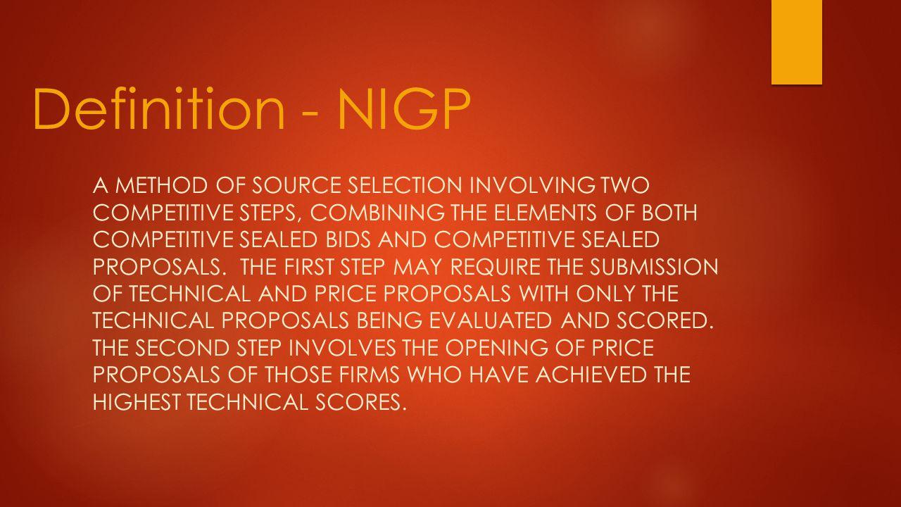 Definition - NIGP