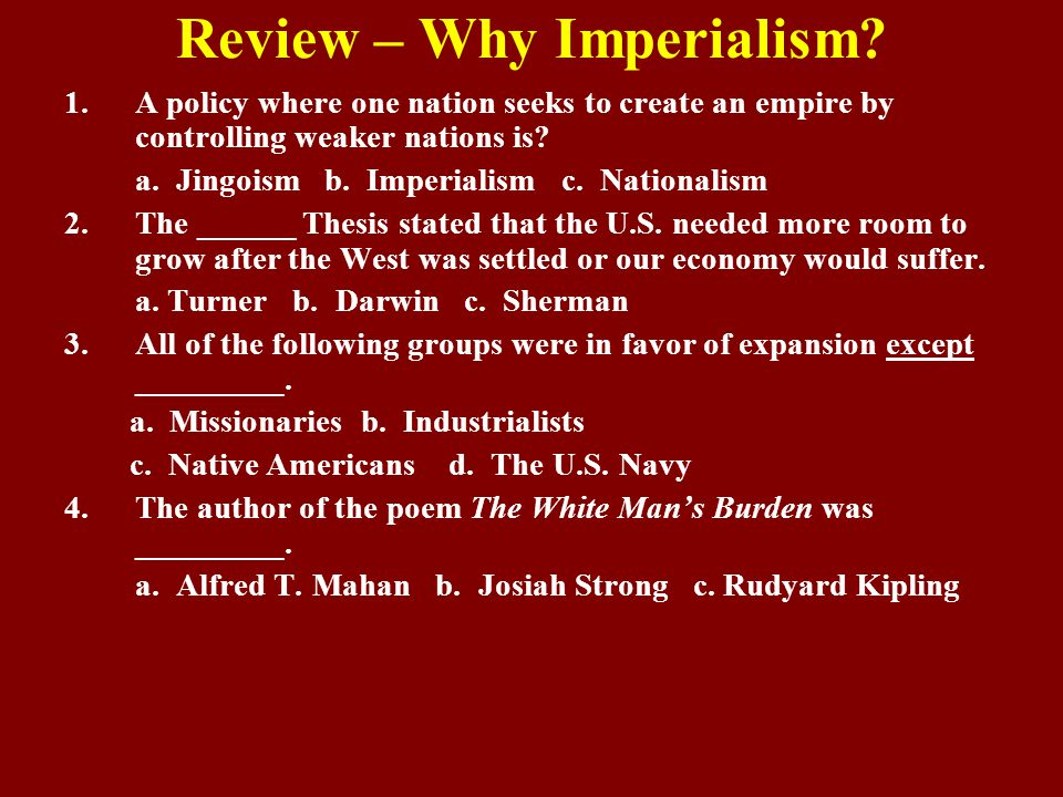 Review – Why Imperialism