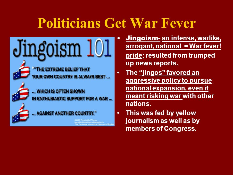 Politicians Get War Fever