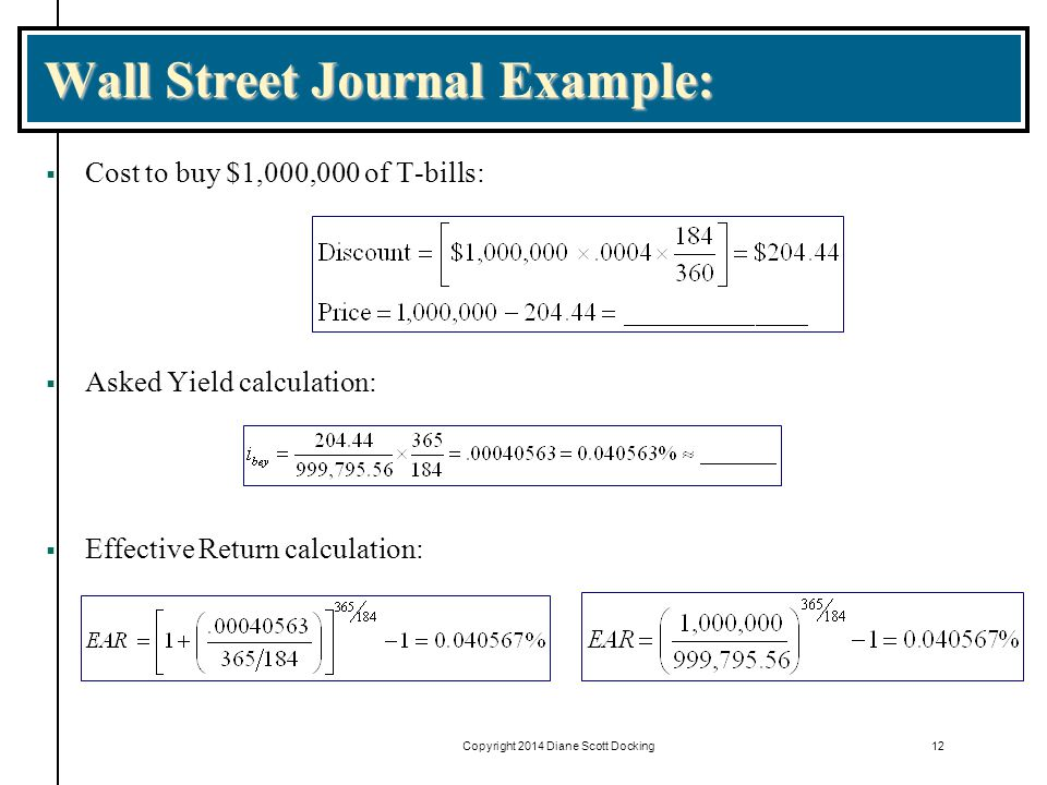 Wall Street Journal Example: