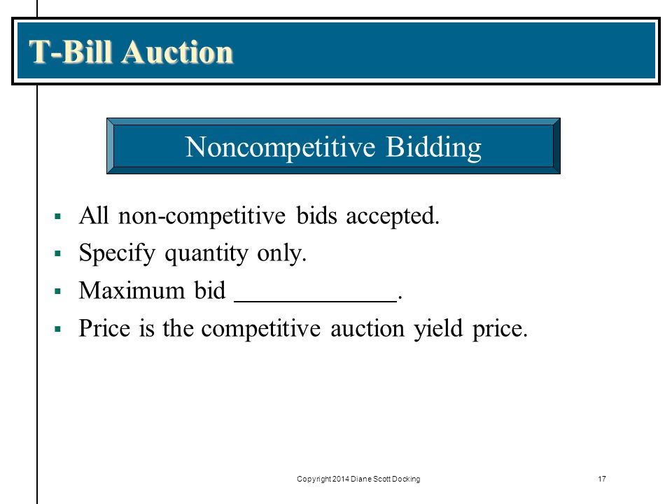 T-Bill Auction Noncompetitive Bidding