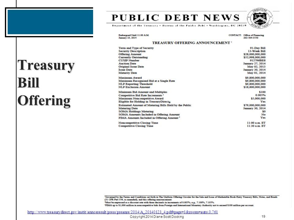 Treasury Bill Offering