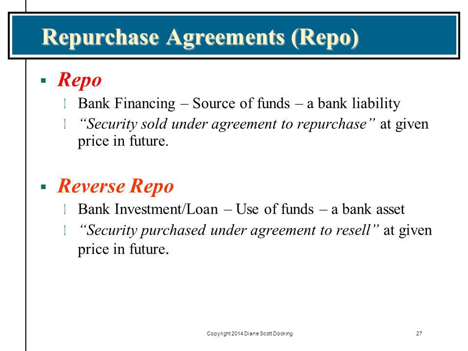 Repurchase Agreements (Repo)