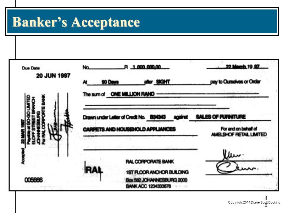 Banker's Acceptance Copyright 2014 Diane Scott Docking