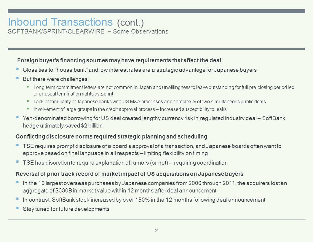 Inbound Transactions (cont.) THE INBOUND/OUTBOUND BRIDGE