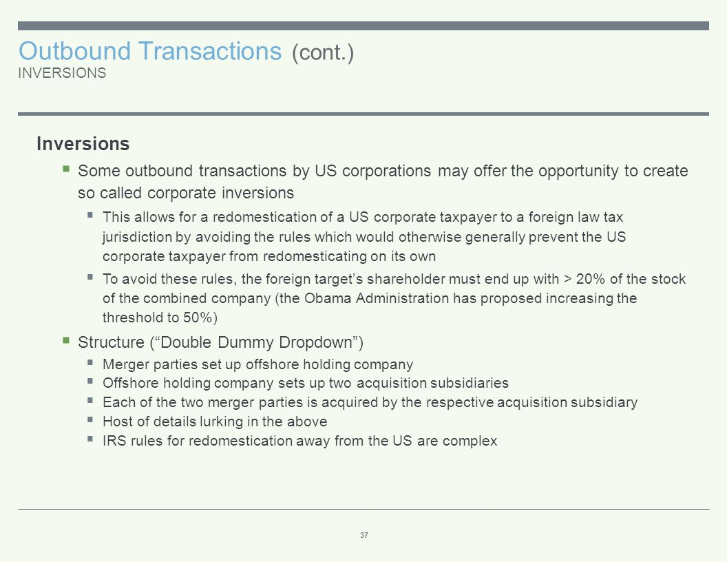 Outbound Transactions (cont
