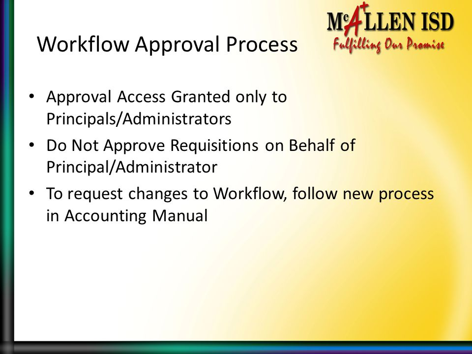 Workflow Approval Process