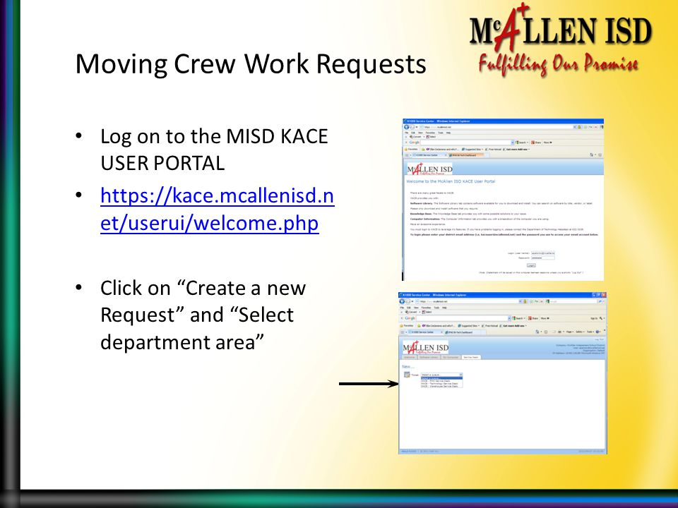 Moving Crew Work Requests