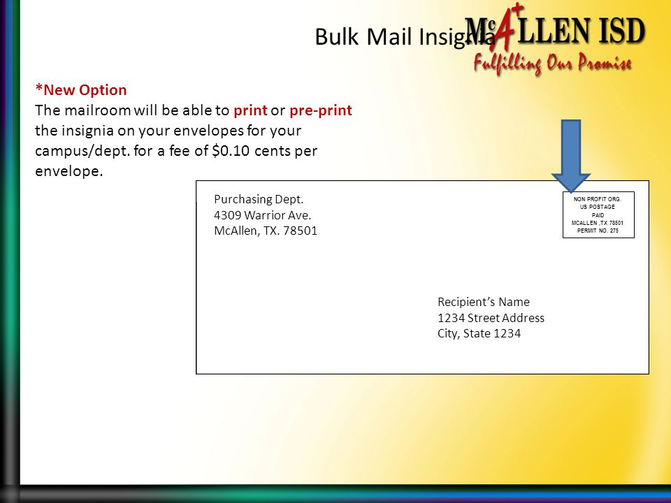 Bulk Mail Insignia *New Option