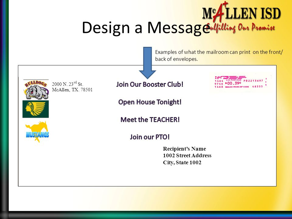 Design a Message Join Our Booster Club! Open House Tonight!