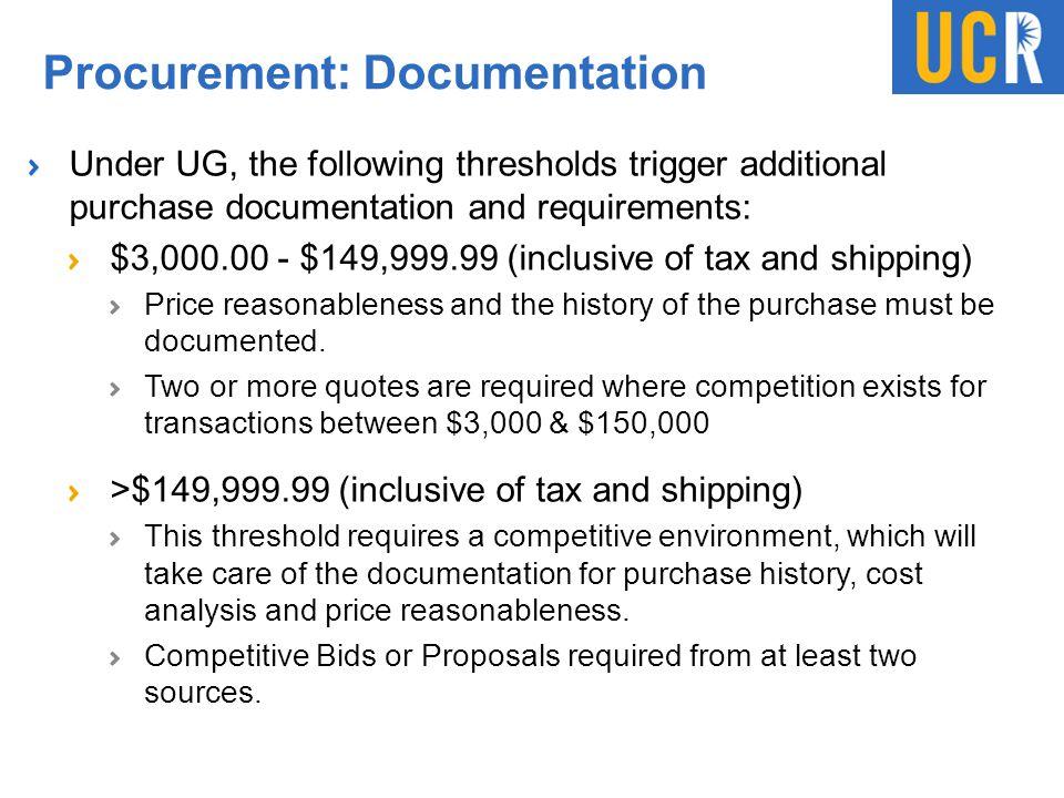 Procurement: Documentation