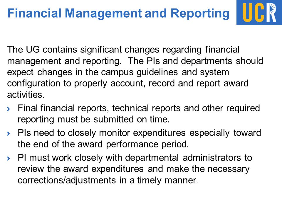 Financial Management and Reporting