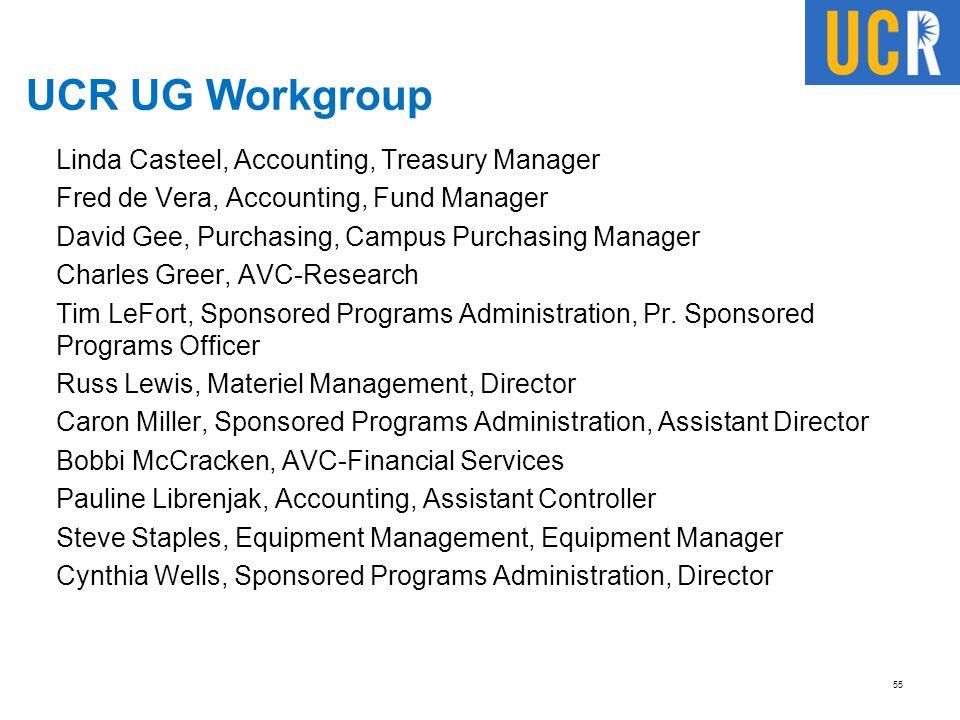 UCR UG Workgroup