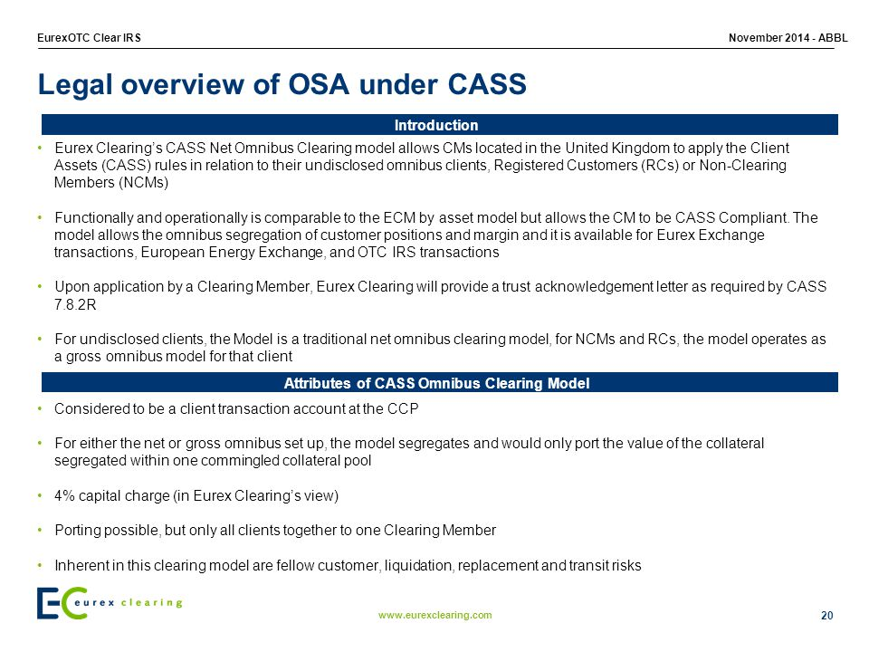 Legal overview of OSA under CASS