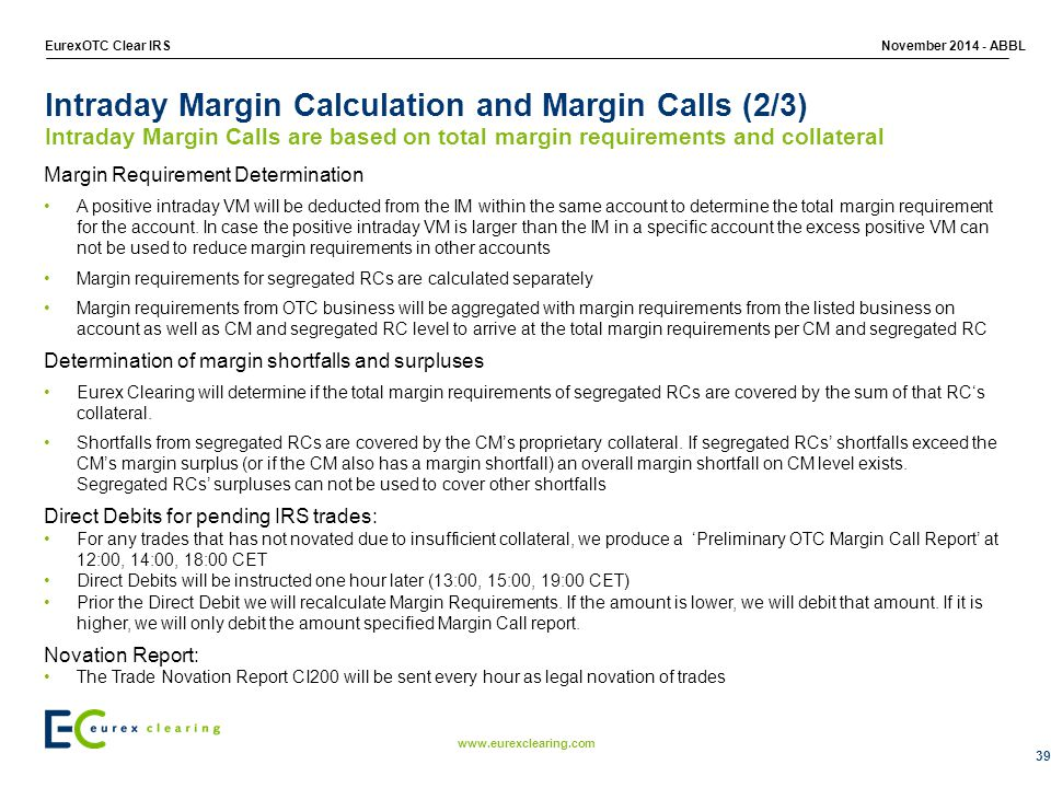 Intraday Margin Calculation and Margin Calls (2/3)