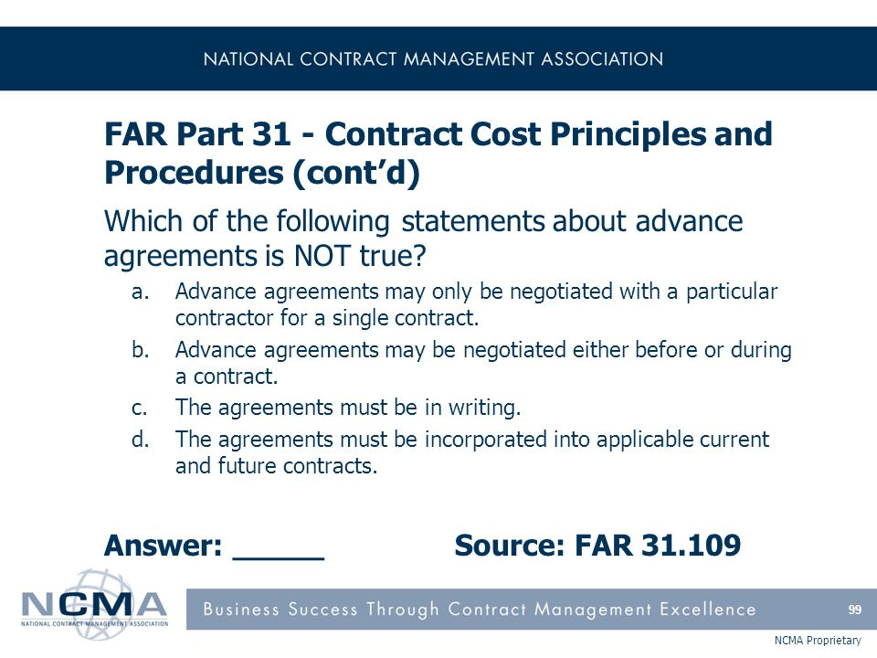FAR Part 32 - Contract Financing