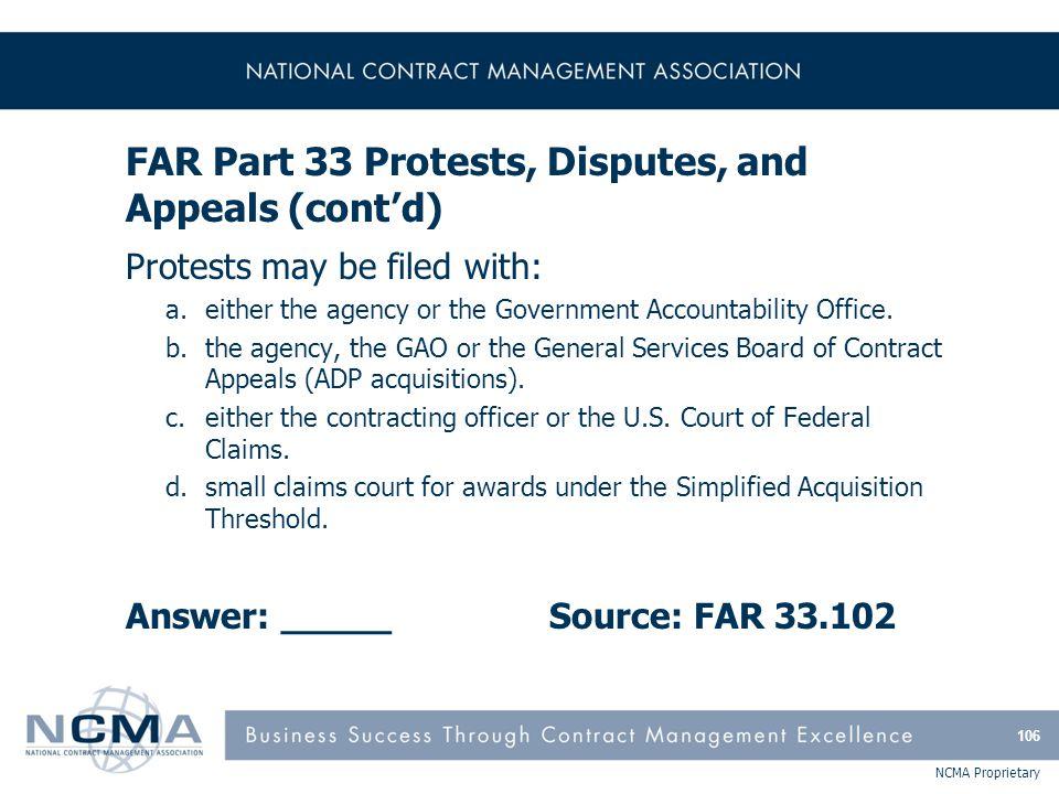 FAR Part 34 - Major System Acquisition