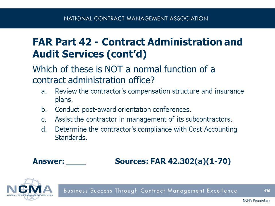 FAR Part 43 - Contract Modifications