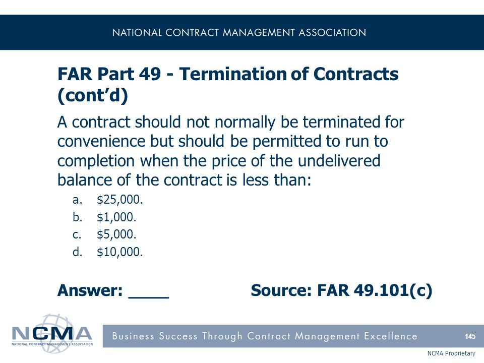 FAR Part 50 - Extraordinary Contractual Actions and The Safety Act