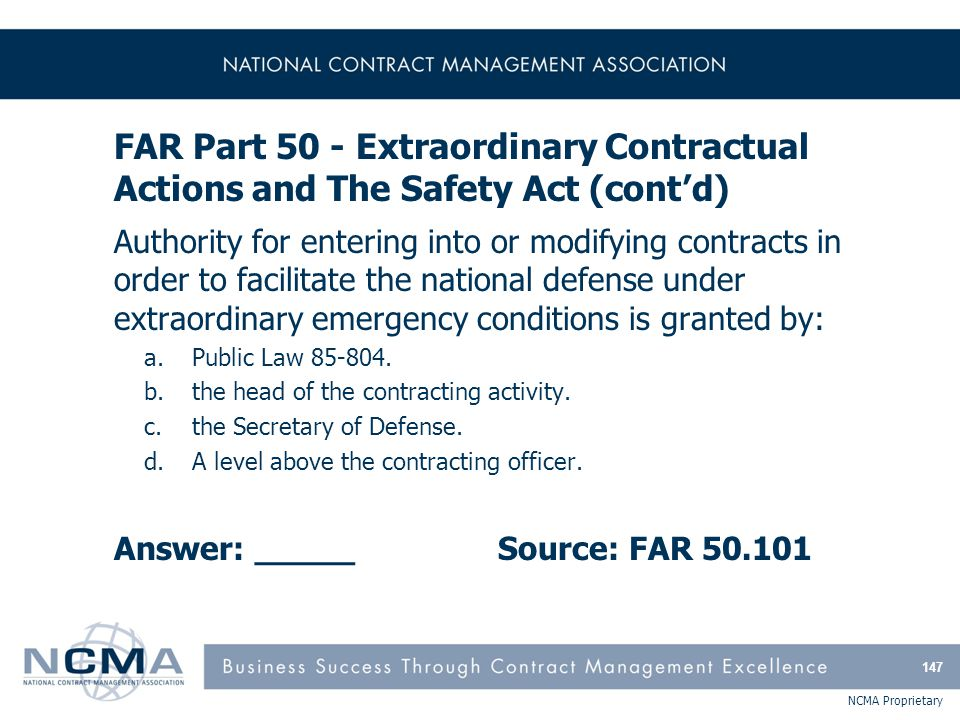 FAR Part 51 - Use of Government Sources by Contractors