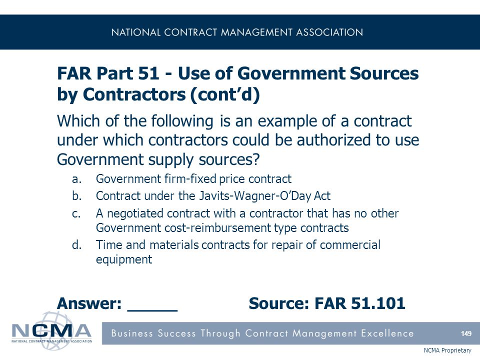 FAR Part 52-Solicitation Provisions and Contract Clauses