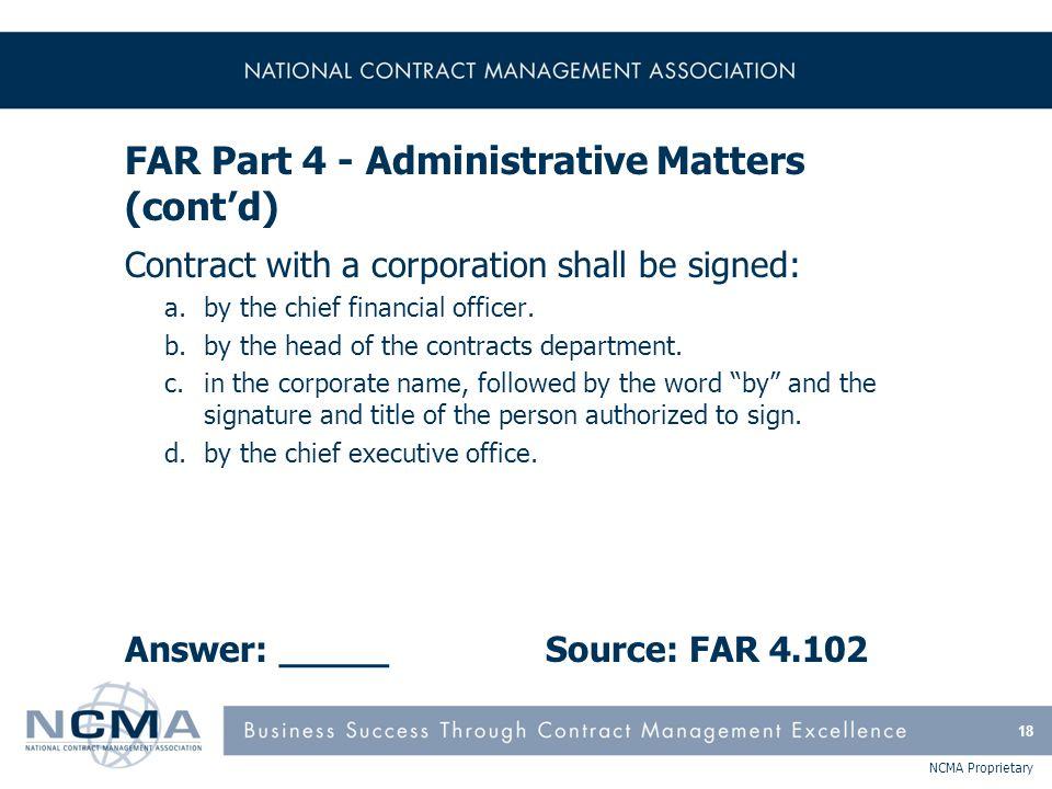 FAR Part 5 - Publicizing Contract Actions
